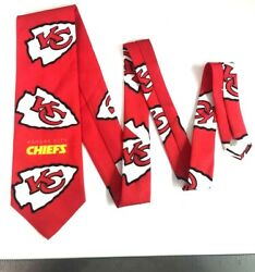 1994 NFL Mens Kansas City Chiefs Neck Tie Ralph Marlin Made in USA NEW With Tags