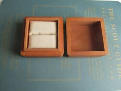 James Avery Wooden Wood Dovetail Ring Box