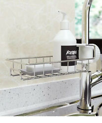Drain Rack Storage Holder Shelf Kitchen Sink Faucet Sponge Soap Cloth $8.99