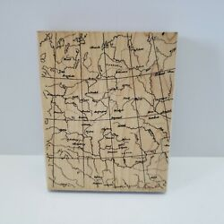 Hero Arts Antique Map Background Large Rubber Stamp $13.99