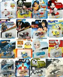 Hot Wheels Character Cars Disney Marvel Star Wars DC amp; More *Updated 4 15 21* $4.99