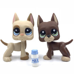 2PCS Pet shop toys cute great dane dog #1519 #1647 puppy with accessory $7.99