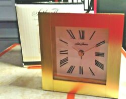 SETH THOMAS TRADITIONAL brass DESK MANTEL METAL CLOCK TGO 1540 $16.99
