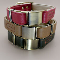 Genuine Leather Dog Collars Heavy Duty Metal Buckle for Small Large Dogs Bulldog $15.99