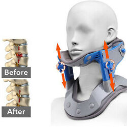 Cervical Neck Traction Device - Neck Brace Collar Stretcher Heated  Pain Relief $35.99