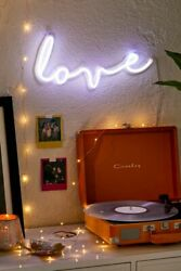 Urban Outfitters Love LED Neon Purple Light Wall Decor Sign New in Box