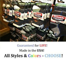Darn Tough Mens Socks Size LARGE- Choose Style & Color- NEW! Free Shipping! $15.99