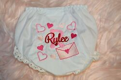 Personalized Valentines Baby Girl Bloomers Valentine Diaper Cover Love Letter $16.00