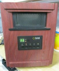 Soleil Electric Infrared Radiant Heater Cabinet Space Heater PH-91E-WD (JB $41.19