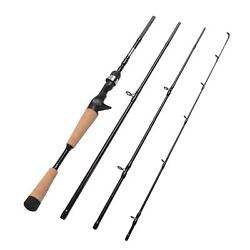 Fiblink 4 Pieces Travel Casting Rod Graphite Baitcasting Fishing Rod Portable $55.29