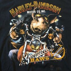 Vintage 3D Emblem T shirt 1989 HARLEY DAVIDSON GENUINE HAWG Size XL Made in USA $249.00