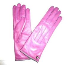 COACH Women#x27;s Cashmere Lined Leather Gloves PINK new rose size 8 NWT NEW 82821 $39.11