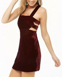 Forever 21 Strappy Faux Velvet Dress Sizes X Small amp; Large NWT $16.99