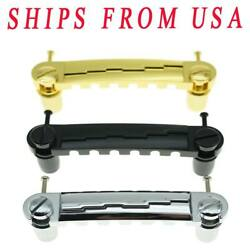 KAISH Chrome Black Gold Electric Guitar Wrap Around Bridge Tailpiece for LP JR $9.40