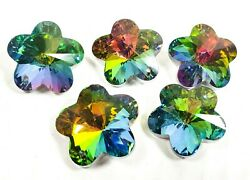 5 Vitrail Rainbow Flower Beads 30mm Plum Blossom Chandelier Crystals Beads $11.99