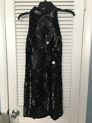Black Halter Neck Sequin Dress Arden B SIZE Small SEXY CLASSY COCKTAIL DRESS $25.00