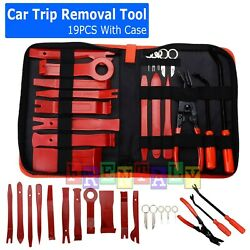 19Pc Car Trim Removal Tool Set Hand Tools Pry Bar Panel Door Interior Clip Kit $23.95