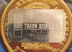 TREND RESEARCH COMMERCIAL ISSUE 999 SILVER ART BAR 1 TROY OZ USSC-283 RARE $108.00