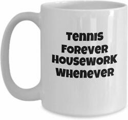 Tennis Novelty Gift Ideas Funny Coffee Mug Cup Sarcasm Sports Player Instructor $14.99