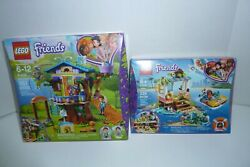 LEGO Friends Turtles Rescue Mission 41376 & 41335 Mia's Tree House... 2 Sets lot