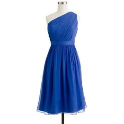 $250 J.CREW KYLIE DRESS 41825 BLUE BLUE 6 BRIDESMAID COCKTAIL PARTY CHIFFON