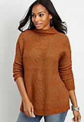 Maurices~New With Tags~Bourbon over-sized cable knit mock neck sweater~Small $23.99