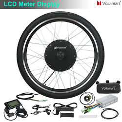 1000W Electric Bicycle Motor Conversion Kit E Bike Cycling Front Wheel LCD Meter $225.99