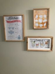 Kitchen Wall Decor Pictures in Frames $10.00