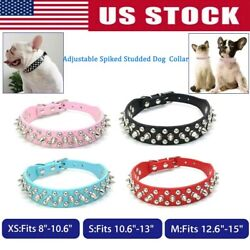Puppy collar Rivet Spiked Studded small pet dog leather cat Necklace Choker XS S $8.50
