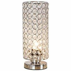ZEEFO Crystal Table Lamp Nightstand Decorative Room Desk Lamp Night Light