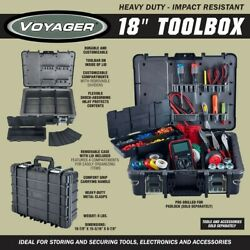 *2020 NEW* VOYAGER 18 In. Heavy Duty Impact-Resistant Toolbox FREE SHIPPING $69.95