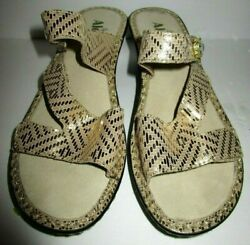 Alegria By PG Lite Kendra Gold Leather Sandals Size 37 amazing FREE SHIPPING $44.99