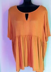Women#x27;s Size 22 24 Top NWT Avenue Brand Plus Summer Shirt Blouse $14.99