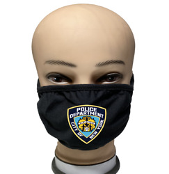 """NEW YORK """"NYPD"""" Both Sides Reusable Washable Protection Cover Face Mask LOT $9.99"""