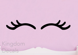 Eyelashes Vinyl Decal Stickers Unicorn Eye Lashes Home Wall Kids Design Decor $6.80