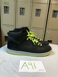 344648 003 Nike Dunk High Womens 12 Swan Anthracite Volt Yell $44.95