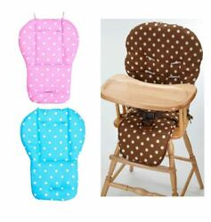Pink Blue Polka Dot Cushion Pad Mat Seat Liner Cover For Evenflo High Chair Baby $15.99
