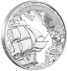 2020 VOYAGE OF DISCOVERY ENDEAVOUR 1770-2020 1oz $1 SILVER PROOF COIN $73.00