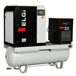 ELGi EN Series 5-HP 60-Gallon Rotary Screw Air Compressor w Dryer (230V 1-Ph... $6,739.14