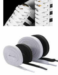 Athletic Flat Shoelaces 55 Inch Black or White Sport Sneaker Shoe Laces Strings $4.05