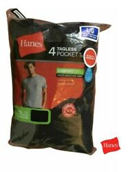 Hanes Men#x27;s FreshIQ® ComfortSoft® Dyed Assorted Colors Pocket T Shirt 4 Pack $16.90