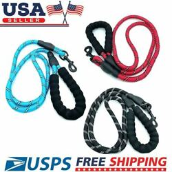 5 FT Dog Leash Heavy duty Reflective Rope for Large Medium Dogs Training Walking $6.98
