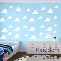 Clouds Childrens Bedroom Wall Vinyl Sticker Decals Toy Story Inspired Cloud Kids $10.39
