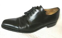 BARNEYS NEW YORKS LACE BLACK LEATHER SHOES SZ 10 $19.99