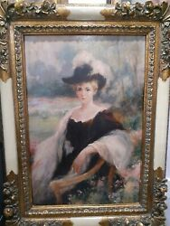 Victorian Oil Painting by L. Marcellus $3330.00