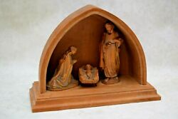 + Nice Hand Wood Carved Nativity Scene + Made in Italy + 4 58