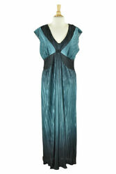 Signature by Robbie Bee Women Dresses Cocktail 12 Blue Polyester $19.39
