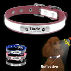 Dog Collars for Small Dogs Personalized Reflective Adjustable Name Tags Collar $6.99