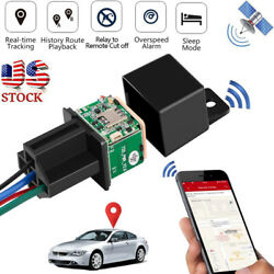 GPS GSM Car Tracker Tracking Security Device Relay Shape Spy Cut Oil Remotrly $22.59
