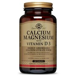 Solgar Calcium Magnesium with Vitamin D3 150 Tablets FRESH FREE SHIPPING $16.99